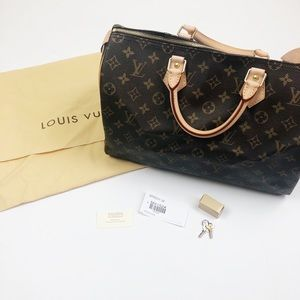 Louis Vuitton Monogram Speedy 35 Authentic